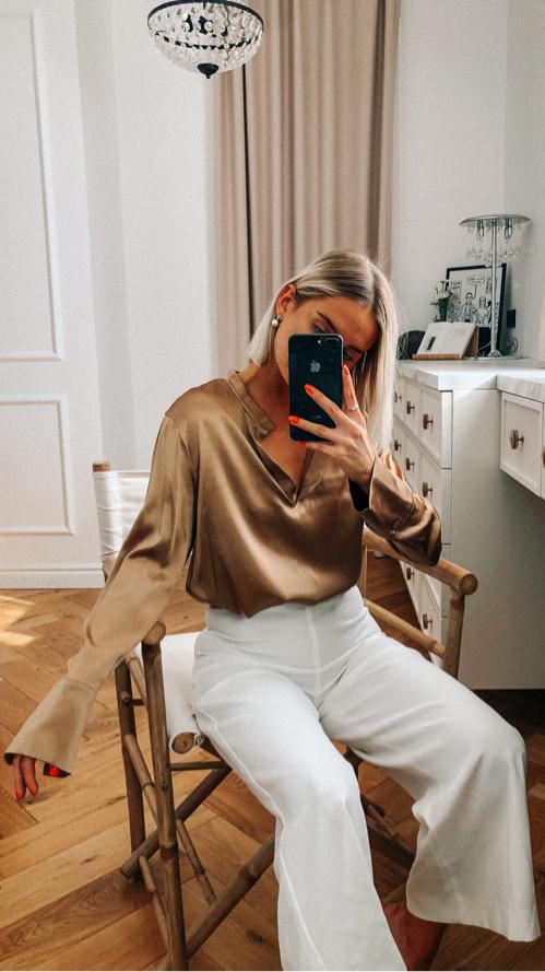 Kuldne elegantne pluus🌟