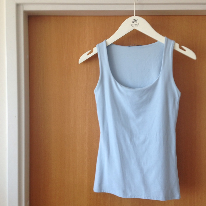 40786951 ... New Zara baby blue top ...