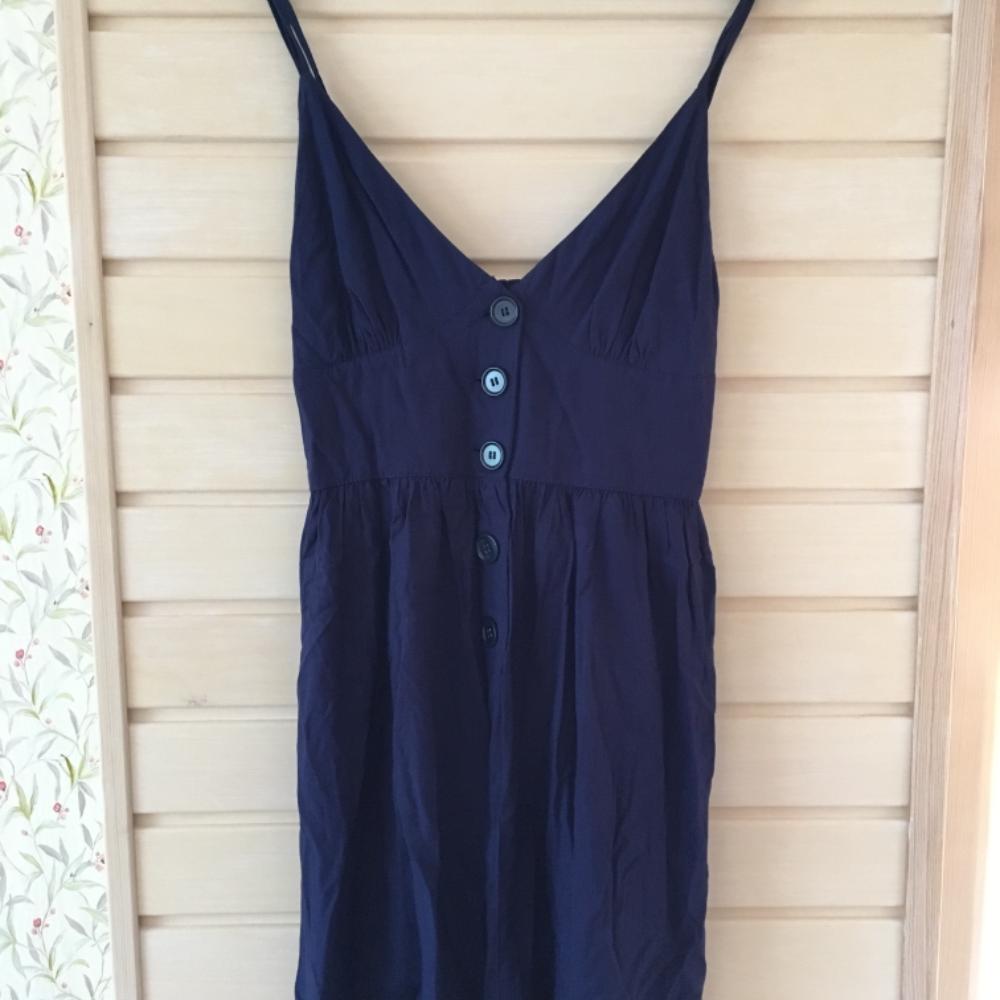 7ca86549f91 ... Kellukalõikeline uus tumesinine kleit Kellukalõikeline ...