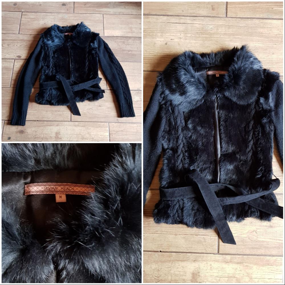 d1d8821582a ... Silvian Heach Fur/Knit Jacket ...