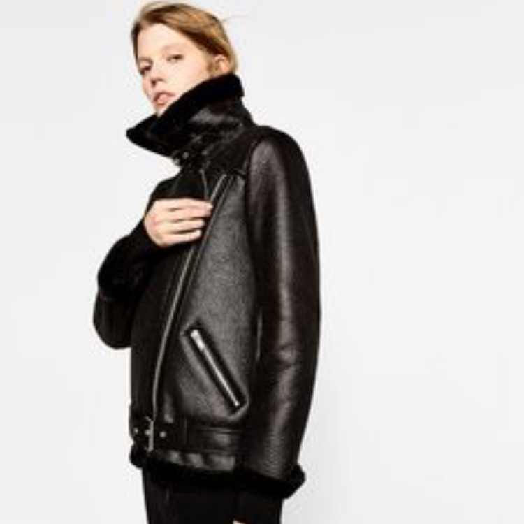 official sale online shop a few days away Zara aviator jacket, faux fur | Basaar