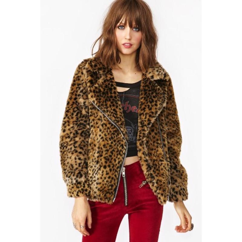103e6ec577c0 BRON! UNIF faux fur leopard coat | Basaar